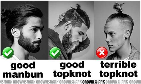 Is The Modern Top Knot Hairstyle The New Man Bun ? Crown Shark