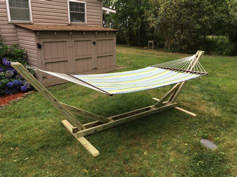 Hammock Stand by Diy Hammock Stand Woodwork City Free Woodworking Plans