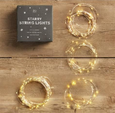 starry string lights feature led lights on bendable