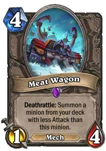 Deathrattle Deck Frozen Throne by Meat Wagon Hearthstone Card