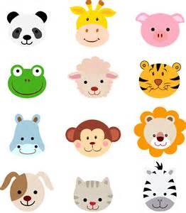 baby shower for to be 12个可爱卡通动物头像矢量素材 设计之家