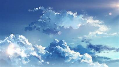 Clouds Sky Anime Laptop Aesthetic Cloud Wallpapers