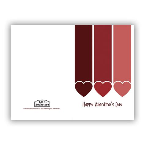 Falling Hearts Valentine's Day Card - Printable in LDS ...