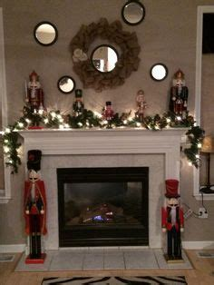 fireplace nutcracker decorating with nutcrackers mantels fireplace