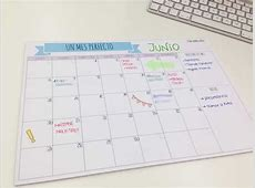 Planificador mensual A4 Ordenarte
