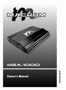M2a 1000 Manuals