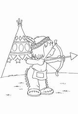 Indian Coloring Pages Coloringpages1001 American sketch template