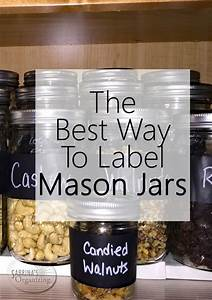 The Best Way To Label Mason Jars