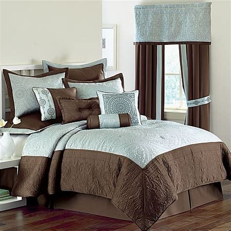 blue and brown comforter sets 10p blue brown classic comforter set pretty new ebay