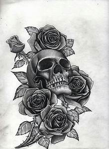 Skull With Roses | Tattoo's ♡ | Pinterest | Tattoo ...