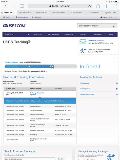 does usps deliver to your door what does delivery status not updated with usps