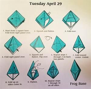 Origami Frog Base Diagram