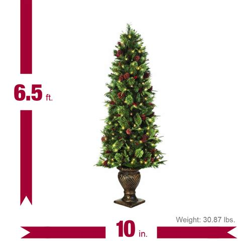 home accents holiday 6 5 ft potted artificial christmas