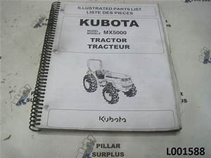 Kubota Mx5000 Tractor Illustrated Parts List 97898