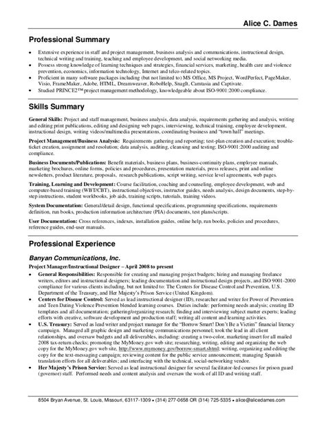 professional summary exles for resume berathen