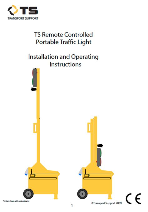remote control traffic light remote controlled portable traffic light transport support