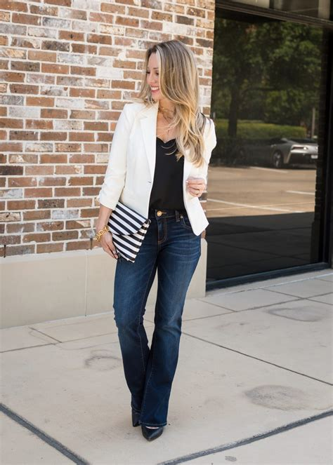 work weekend wow   style  white blazer