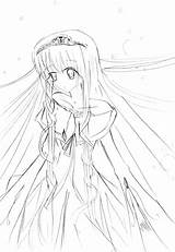 Anime Coloring Sad Pages Printable Getcolorings Getdrawings sketch template