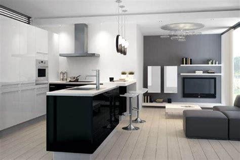 cuisine en l ouverte sur salon aménager une cuisine ouverte sur le salon astuces et