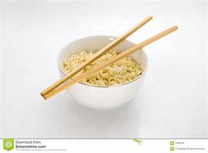 Noodles Bowl And Chopsticks Royalty Free Stock Image
