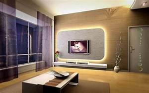 Modern Japanese Interior Concept With LCD TV And Big ...