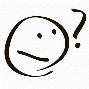Asking, confused, emoji, emoticon, question, questioning ...