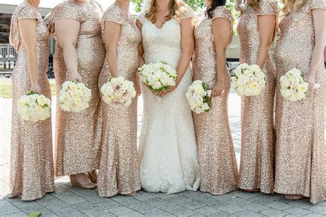 Rent The Runway Sequin Bridesmaid Gown