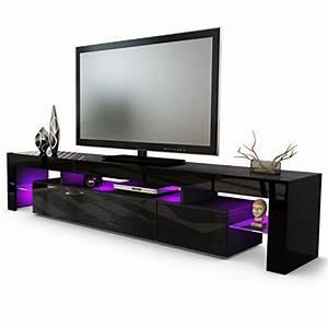 Meuble Tv Led Noir : les 7 meuble tv design les plus originaux meuble tv pas cher ~ Teatrodelosmanantiales.com Idées de Décoration