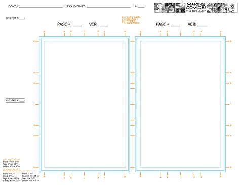 Comic Page Script Template by Page Aspect Ratios Templates Making Comics