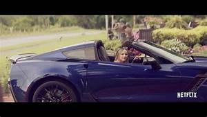 Corvette Stingray Blue Convertible Car in The Last Summer