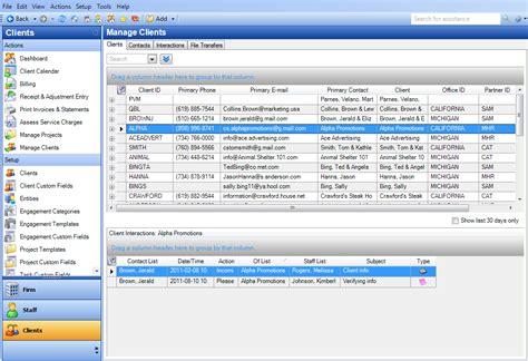 client management software  accountants dt practice