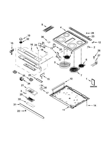 jenn air cooktop parts jenn air electric range parts model jes1750ces0 sears