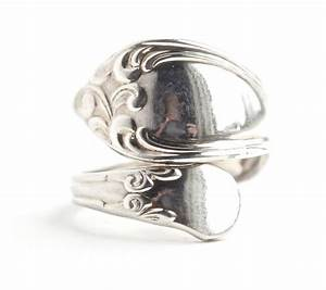 vintage spoon ring vintage size 7 silver plated by With spoon wedding rings