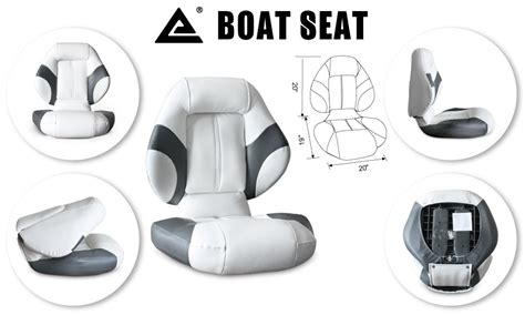 Boat Seats Rockhton by Leader Accessories Bass Boat Seat Fishing Chair Gray White