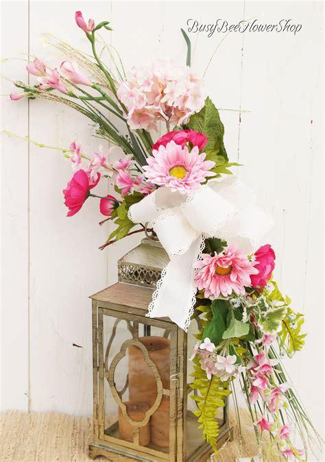 Elegant Pink Spring / Summer Lantern Swag Arrangement for