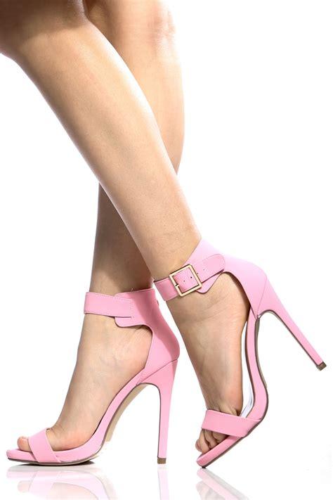 light pink heels light pink faux nubuck ankle stiletto heels