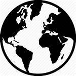 Globe Icon Silhouette Map Earth Europe Global