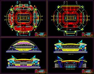 Stadium DWG Section For AutoCAD Designs CAD