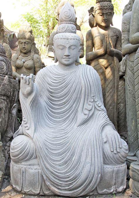 buddha statue garden statues fountain zen stone buddhist custom hindu sculpture buddah head idea lotus