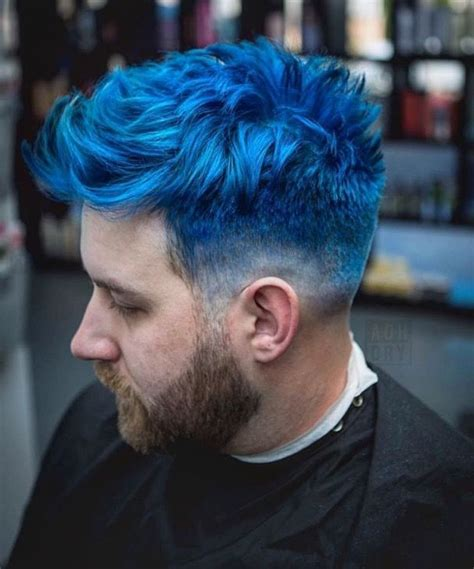 Pin By Brick 101 On Blue Hair In 2019 Men Hair Color