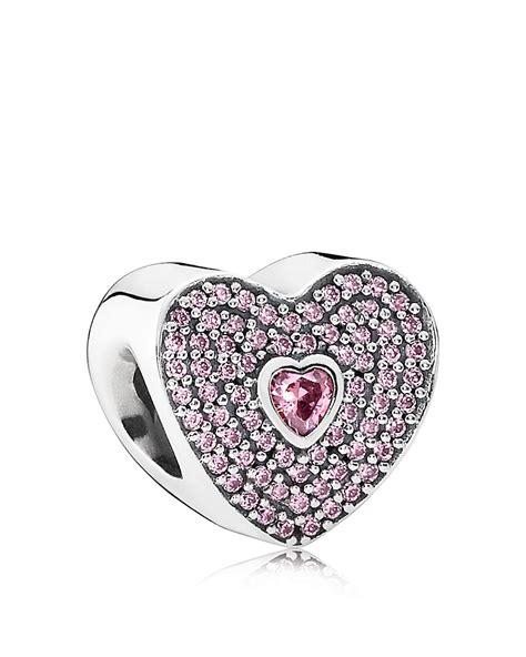 pandora charm sterling silver cubic zirconia valentine