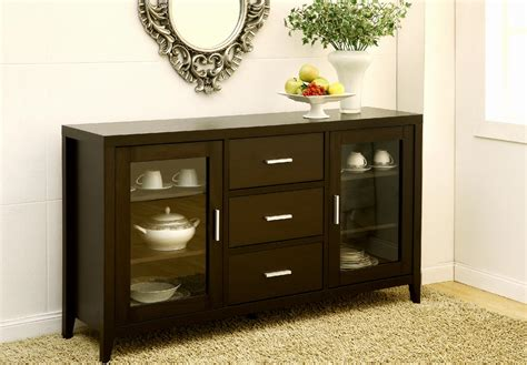 Tv Sideboard Cabinets by Furniture Of America True Elegance Espresso Buffet Tv Cabinet