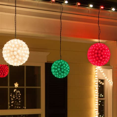outdoor christmas decorations lighted spheres www