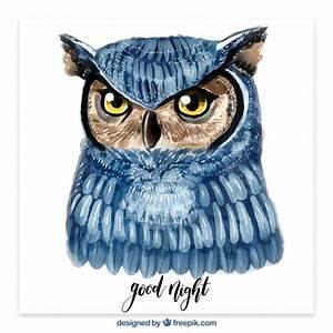 Watercolor owl illustration Vector   Free Download