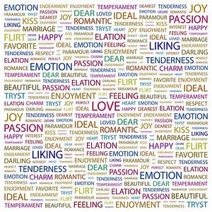 LOVE. Word collage on white background — Stock Vector ...