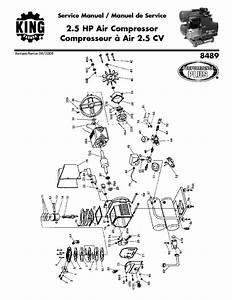King Canada 8489 Air Compressor Parts 2008 8489 Service