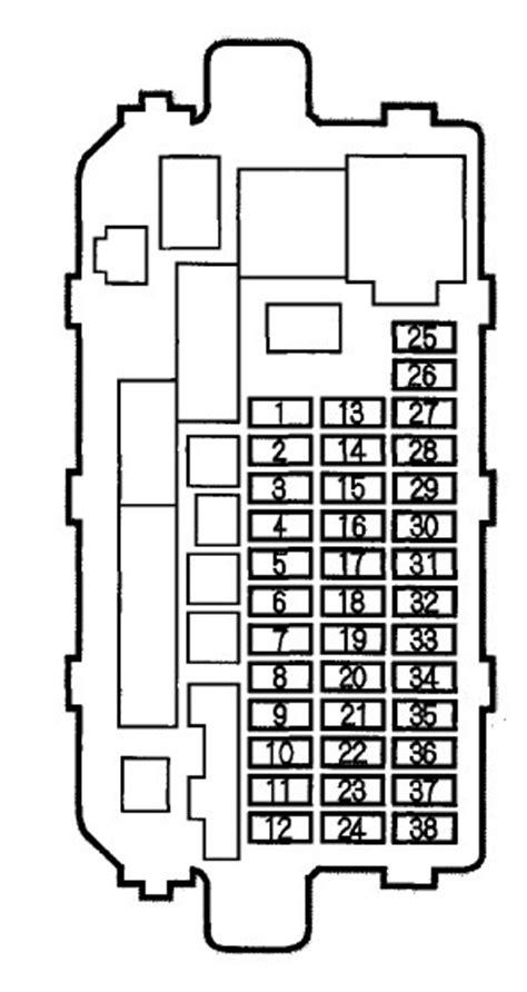 1998 Acura Integra Fuse Box Diagram by Acura Integra 2000 Fuse Box Diagram Auto Genius