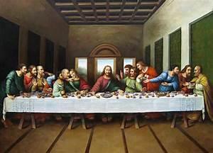 Leonardo da Vinci original picture of the last supper 50% ...