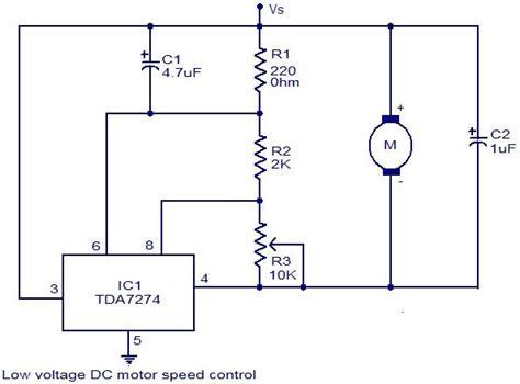 Low Voltage Motor Speed Control Circuit Using Tda