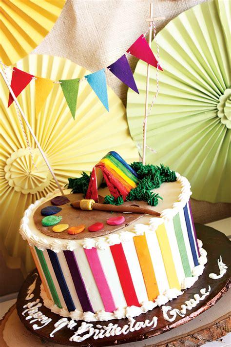 rainbow camp arts  crafts birthday party hostess